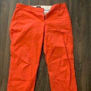 Orange jcrew pants